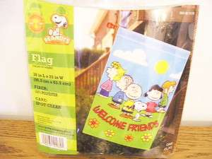 Peanuts Gang Snoopy large flag Welcome Friends summer   NEW