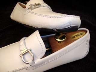 Salvatore Ferragamo Mens Dress Shoes Paladin Parigi White Driver