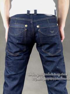 new man jeans dark blue size