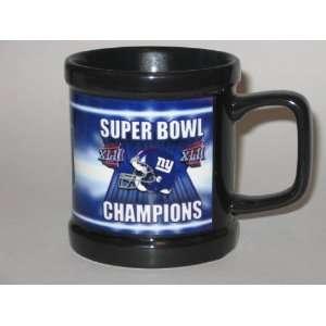 Super Bowl XLII Champions Black 11 oz. COFFEE MUG Sports & Outdoors
