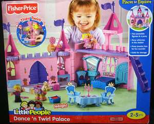 NEW FISHER PRICE LITTLE PEOPLE ♥ DANCE N TWIRL PALACE NIB PRINCESS