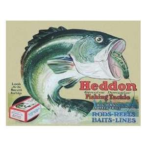 TIN SIGN Heddon   Frogs Fishing Tackle
