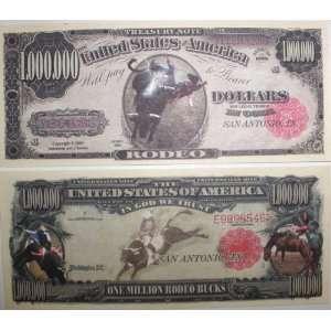 Set of 10 Bills Rodeo Million Dollar Bill Toys & Games