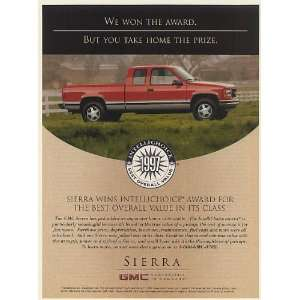 1997 GMC Sierra Pickup Truck Wins Intellichoice Award for