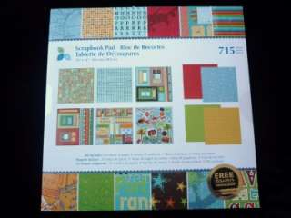 New~12x12 Foiled & Embossed Scapbooking Pad Page Kit~ON VACATION~715