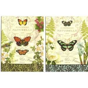 Flora & Fauna Histoire Naturelle Note Card Set   12 Cards and