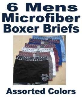 Men MICROFIBER BOXER BRIEFS Underwear ZONE FOOTBALL