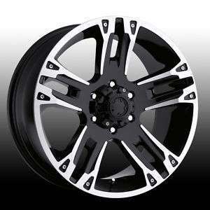 Ultra Maverick Black Machine 17x8 Chevy Dodge Ford GMC
