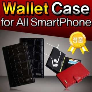 SUITE VOGUE] Leather Wallet Case Cover for iPhone4s/GalaxyS/S2 (i9000