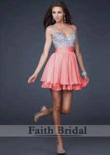 Chiffon Skirt Prom Party Cocktail Evening Dress