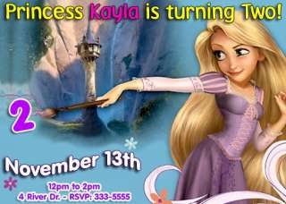 TANGLED RAPUNZEL BIRTHDAY PARTY INVITATIONS