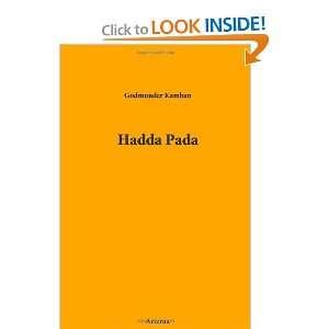 Hadda Pada (9781444422467) Guðmundur Books