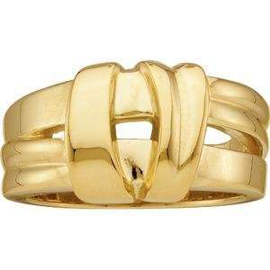 Overlapping Bands Fashion Ring in 14k Yellow Gold Jewelry