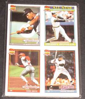 10 Sets   1991 Topps Cracker Jack Cards 4in1 Series 2