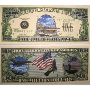 Set of 10 Bills US Navy Million Dollar Bill Toys & Games