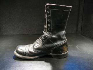 Nice 1950s 60s VTG CORCORAN PARATROOPER BOOTS Black Leather NR