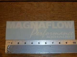 Magna Flow large White Die Cut Sticker Decal