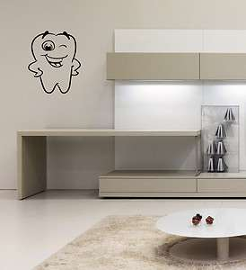 WALL VINYL STICKER DECALS ART MURAL FUNNY STUFF FUNNY TOOTH TEETH O309