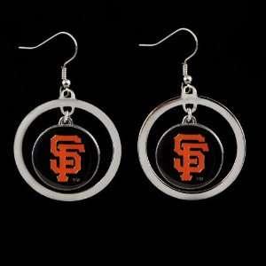 San Francisco Giants   MLB Floating Logo Hoop Earrings
