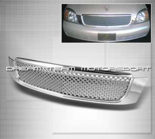 00 05 CADILLAC DEVILLE BENTLEY STYLE CHROME FRONT HOOD GRILL GRILLE