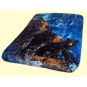 Luxury Queen Black Bears Mink Blanket: Home & Kitchen