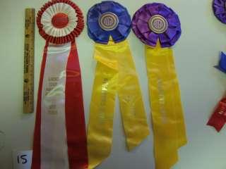 Ribbons 1970's Horseshow Style Dairy Alpine Nubian (10) NJ PA