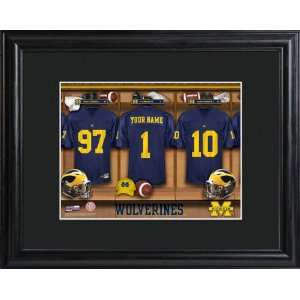Personalized Michigan Wolverines Locker Room Print Sports