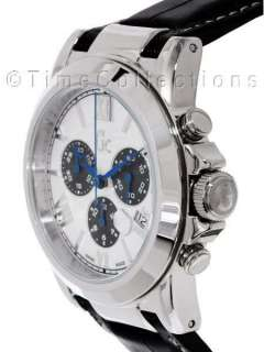 COLLECTION GC SS CHRONOGRAPH MEN BLACK LEATHER STRAP WATCH G37002G1
