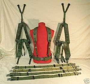 LOT 5 US Army LC2 PISTOL BELT M Web Gear /Suspenders VG