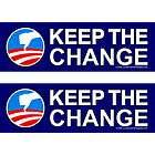 Set 3 Bumper Stickers NO KEEP CHANGE Political Anti Obama