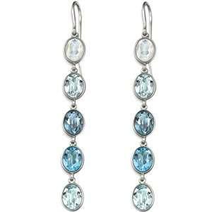 Swarovski Crystal Neva Earrings Blue Jewelry