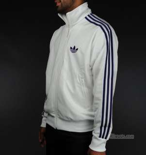 NEW %ADIDAS ORIGINALS FIREBIRD WHITE PURPLE TRACK TOP JACKET M
