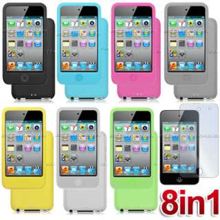 Silicone Case+Screen Cover for iPod Touch 4th Gen 4 G