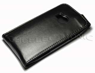 Black Leather Flip Hard case Holster for Nokia X7 X7 00