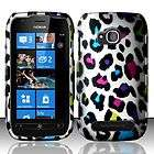 Leopard Rubberized Snap on Hard Shell Cover Phone Case For Nokia E71
