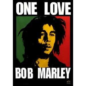 Bob Marley   One Love Fabric Poster Print, 40x30 Fabric