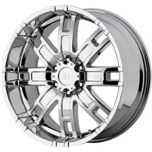 Helo HE835 18x9 Chrome Wheel / Rim 8x170 with a 18mm Offset and a 125
