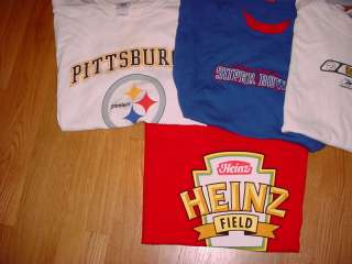 HUGE Lot NFL PITTSBURGH STEELERS Tees T Shirts XL extra large XXL 7