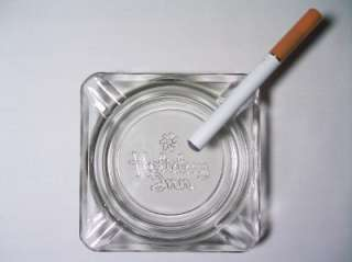 Holiday Inn Square Clear Glass Ashtray 4 Med Rest