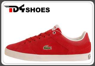 Lacoste Newsome TC SPM Red Suede 1925 Mens Casual Shoes