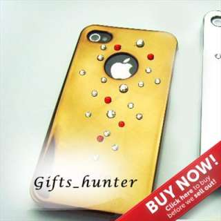 NEW IPHONE 4 4S BLING COVER CASE SWAROVSKI CRYSTAL ELEMENT PROTECTOR