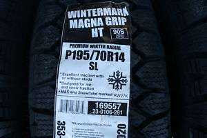 New 195 70 14 Wintermark Magna Grip HT Tires 90S *SHIPPING DISCOUNT