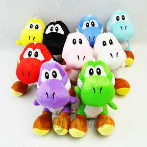 Lot 9 New Super Mario Bros 7 yoshi Plush Doll^MW133