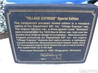Dept 56 Heritage Village, Village Express Van Black & Gold Box #99511