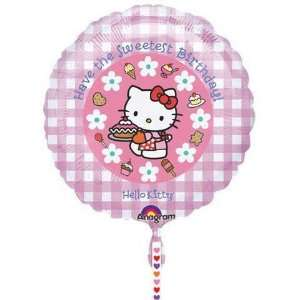 Birthday Balloons   18 Hello Kitty Clip A Strip Toys & Games