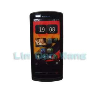 Black Leather Case Cover Pouch + LCD Screen Protector Film For Nokia