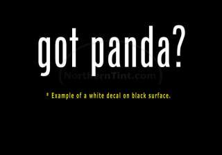 got panda? Vinyl wall art truck car decal sticker
