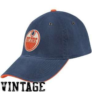 CCM Edmonton Oilers Navy Blue Golden Age Flex Hat (Small/Medium