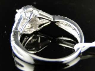WOMENS WHITE GOLD DIAMOND PRINCESS CANARY YELLOW SOLITAIRE ENGAGEMENT