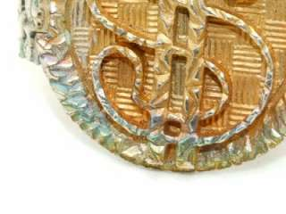 Chunky Dollar Sign Bling Silver Gold Tone Bracelet VERY NICE